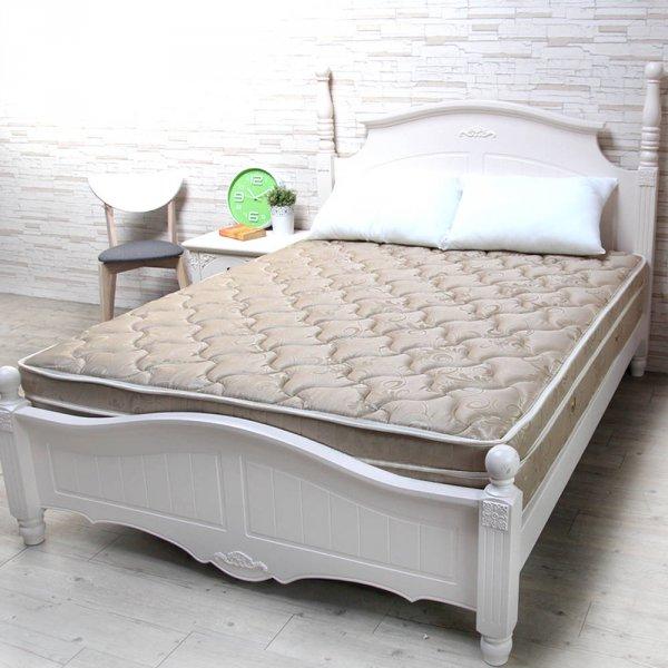 Кровать белая классика из МДФ -эмаль и массива