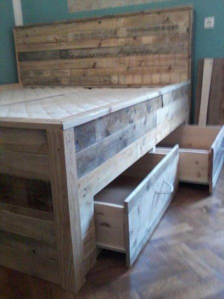 """Кровать в стиле ЛОФТ из дерева из""""Паллет"""""""