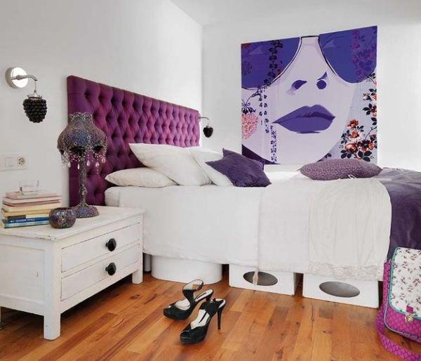 Изголовье с Каретной стяжкой, кровать(фото из интернета)