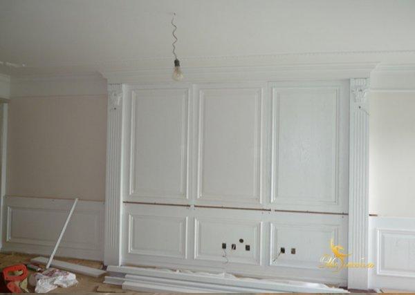 Панели из дерева для стен белые