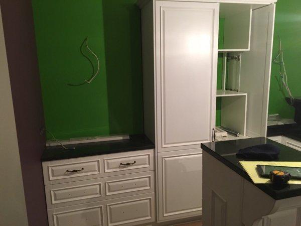 Белая кухня из МДФ эмаль