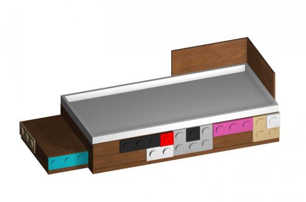 Кровать Лего односпальная с ящиками