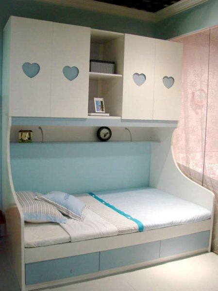 Кровать с антресолями на верху, кровать -шкаф