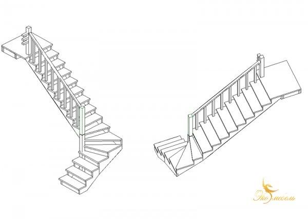 Эскиз лестницы